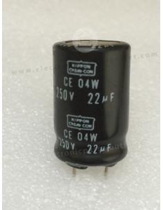 22uF-250V-rad  CE04W