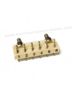 Ceramic wiring strip 6P