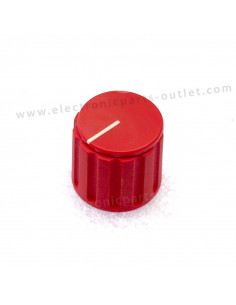 Knob red Ø 21mm   shaft...