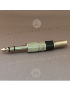 Jack 6,3mm stereo plug male...