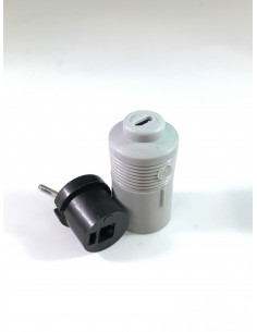 2 pins loudspeaker plug female