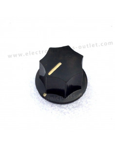 Knob black Ø24mm star shape...