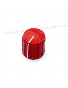 Knob red Ø 21mm  shaft 4mm,...