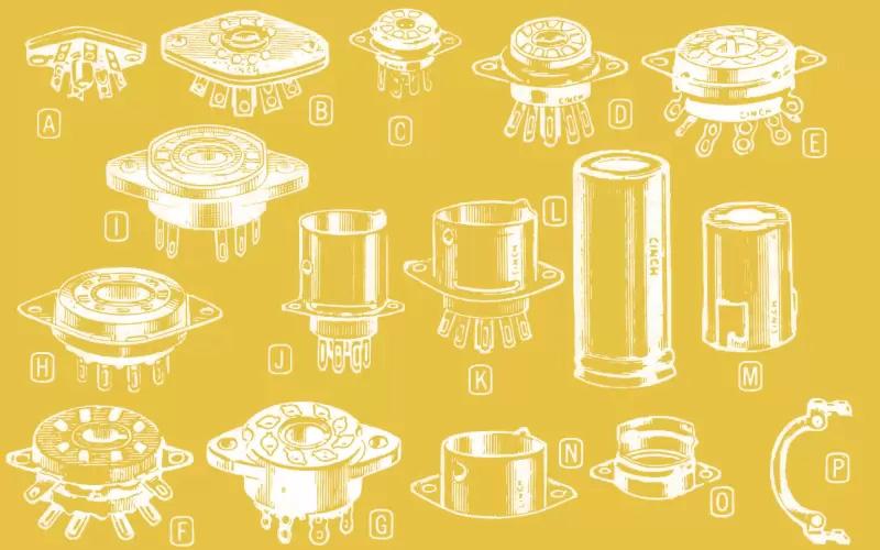buisvoeten en accessoires voor vacuumbuizen